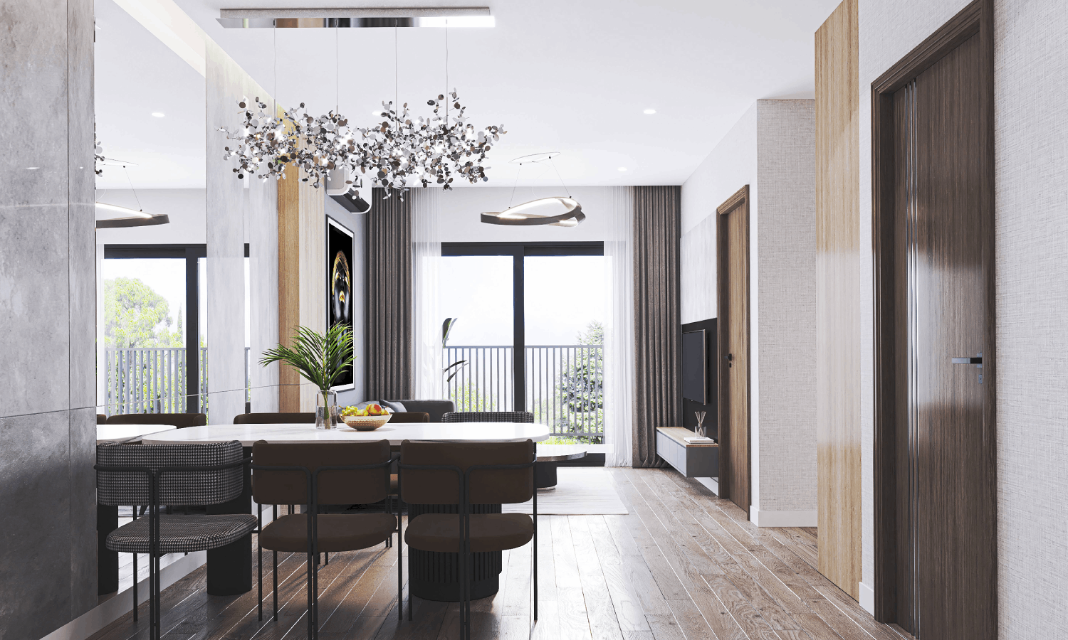 Thiết kế trong xanh trong dự án căn hộ BID residence văn khê