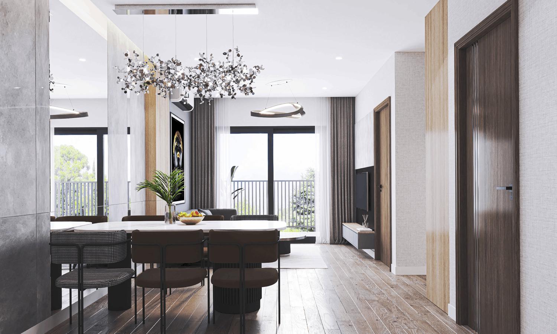 Thiết kế trong xanh trong căn hộ dự án BID residence