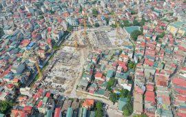 Tiến độ xây dựng chung cư Feliz Homes Hoàng Mai